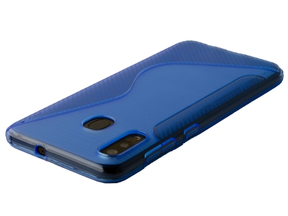 Wave Case for Samsung Galaxy A20 - Blue Soft Cover