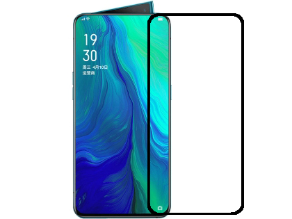 Anti Glare Tempered Glass Screen Protector for the OPPO Reno 10X Zoom - Black Screen Protector