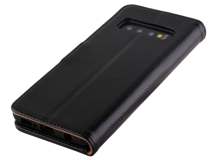 Premium Leather Wallet Case for Samsung Galaxy S10 5G - Black