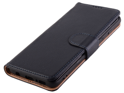 Premium Leather Wallet Case for Samsung Galaxy S10 5G - Midnight Blue