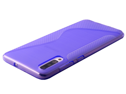 Wave Case for Samsung Galaxy A70 - Purple Soft Cover