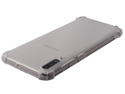 Gel Case with Bumper Edges for Samsung Galaxy A70 - Clear Soft Cover