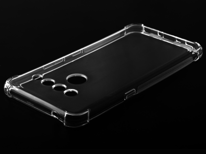 Gel Case with Bumper Edges for LG V50 ThinQ - Clear Soft Cover