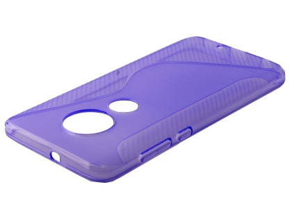 Wave Case for Motorola Moto G7 - Purple Soft Cover