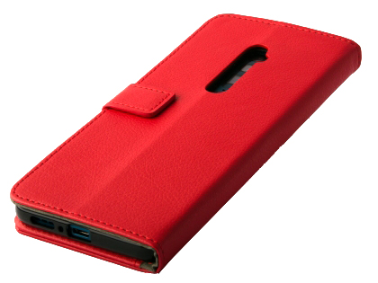 Synthetic Leather Wallet Case with Stand for OPPO Reno 5G - Red Leather Wallet Case