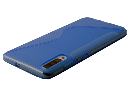Wave Case for Samsung Galaxy A70 - Blue Soft Cover