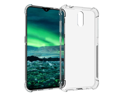 Gel Case with Bumper Edges for Nokia 1 Plus - Clear Soft Cover