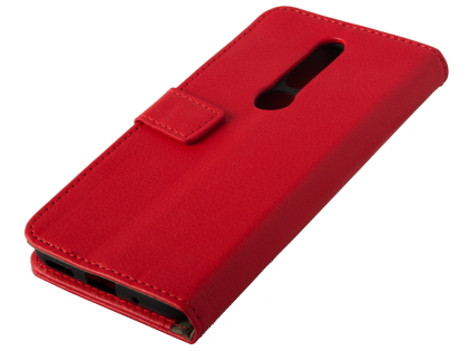 Synthetic Leather Wallet Case with Stand for Nokia 4.2 - Red Leather Wallet Case