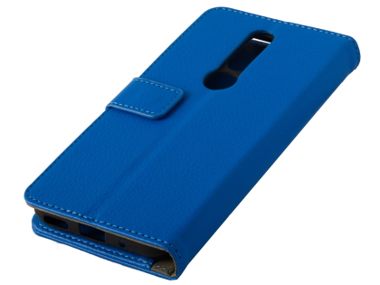 Synthetic Leather Wallet Case with Stand for Nokia 4.2 - Blue Leather Wallet Case