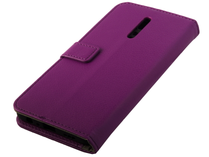 Synthetic Leather Wallet Case with Stand for OPPO Reno Z - Purple Leather Wallet Case