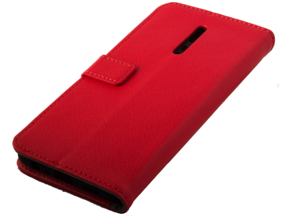 Synthetic Leather Wallet Case with Stand for OPPO Reno Z - Red Leather Wallet Case