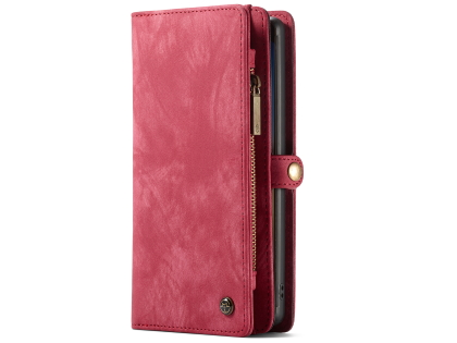 CaseMe 2-in-1 Synthetic Leather Wallet Case for Samsung Galaxy Note10 - Pink/Blush Leather Wallet Case