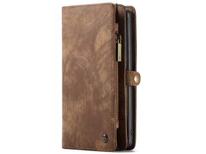 CaseMe 2-in-1 Synthetic Leather Wallet Case for Samsung Galaxy Note10 - Beige/Tan Leather Wallet Case