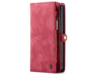 CaseMe 2-in-1 Synthetic Leather Wallet Case for Samsung Galaxy Note10+ - Rose Leather Wallet Case
