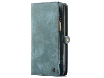CaseMe 2-in-1 Synthetic Leather Wallet Case for Samsung Galaxy Note10+ - Teal Leather Wallet Case