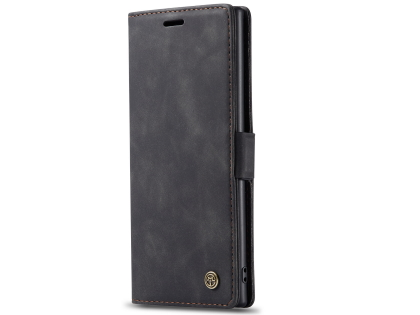 CaseMe Slim Synthetic Leather Wallet Case with Stand for Samsung Galaxy Note10+ - Charcoal