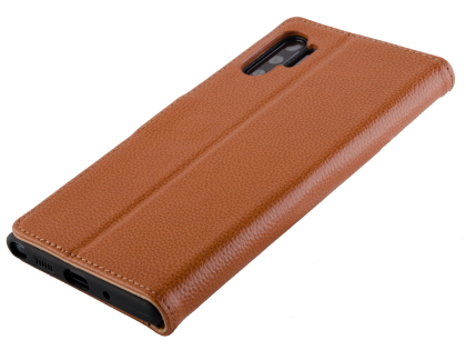 Premium Leather Wallet Case with Stand for Samsung Galaxy Note10+ 5G - Brown
