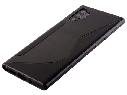 Wave Case for Samsung Galaxy Note10+ - Black Soft Cover