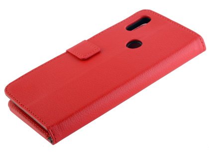 Synthetic Leather Wallet Case with Stand for Xiaomi Mi Mix 3 - Red Leather Wallet Case