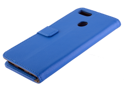 Synthetic Leather Wallet Case with Stand for Xiaomi Mi A1 - Blue Leather Wallet Case