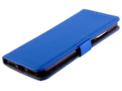 Synthetic Leather Wallet Case with Stand for Xiaomi Mi A3 - Blue Leather Wallet Case