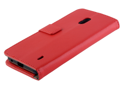 Synthetic Leather Wallet Case with Stand for Nokia 2.2 - Red Leather Wallet Case