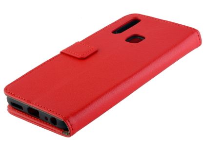 Synthetic Leather Wallet Case with Stand for vivo Y17 - Red Leather Wallet Case
