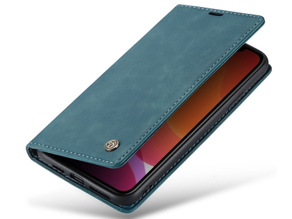 CaseMe Slim Synthetic Leather Wallet Case with Stand for iPhone 11 Pro - Teal Leather Wallet Case