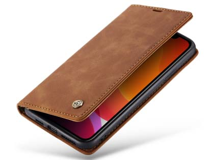 CaseMe Slim Synthetic Leather Wallet Case with Stand for iPhone 11 Pro Max - Beige Leather Wallet Case