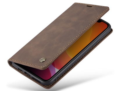 CaseMe Slim Synthetic Leather Wallet Case with Stand for iPhone 11 Pro Max - Chocolate Leather Wallet Case