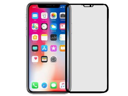 Anti Glare Tempered Glass Screen Protector for the Apple iPhone 11 Pro Max - Black Screen Protector