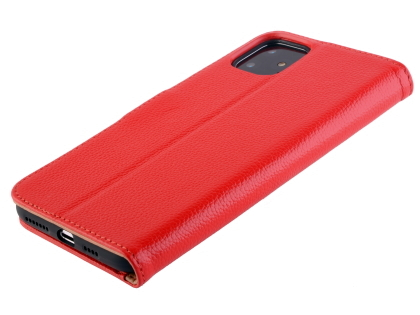 Premium Leather Wallet Case for Apple iPhone 11 - Red Leather Wallet Case
