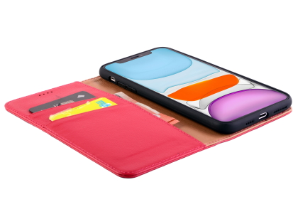 Premium Leather Wallet Case for Apple iPhone 11 - Pink