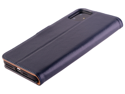 Premium Leather Wallet Case for Apple iPhone 11 - Midnight Blue Leather Wallet Case