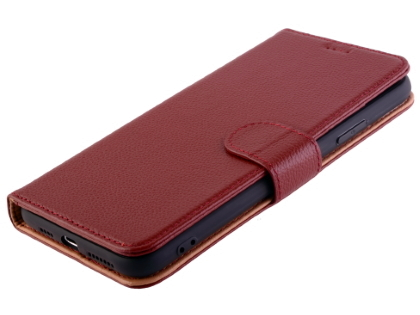Premium Leather Wallet Case for Apple iPhone 11 Pro - Burgundy