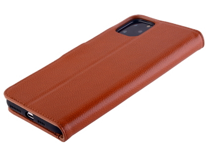 Premium Leather Wallet Case for Apple iPhone 11 Pro - Caramel Leather Wallet Case