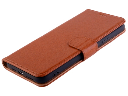 Premium Leather Wallet Case for Apple iPhone 11 Pro - Caramel