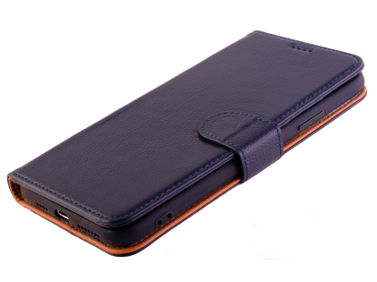 Premium Leather Wallet Case for Apple iPhone 11 Pro - Midnight Blue