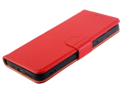 Premium Leather Wallet Case for Apple iPhone 11 Pro Max - Red