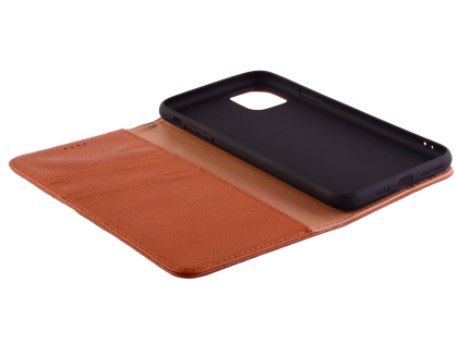 Premium Leather Wallet Case for Apple iPhone 11 Pro Max - Caramel
