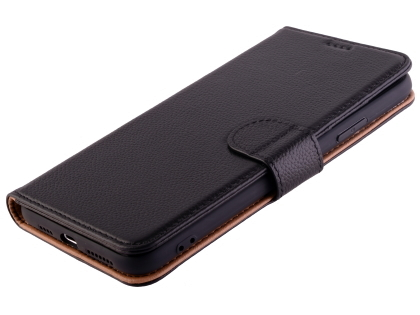 Premium Leather Wallet Case for Apple iPhone 11 Pro Max - Black