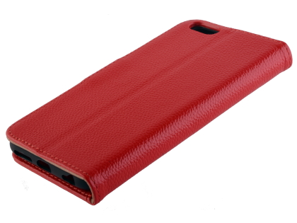 Premium Leather Wallet Case for iPhone 6s/6 - Red Leather Wallet Case