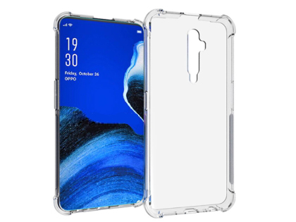 Gel Case with Bumper Edges for OPPO Reno2 Z - Clear Soft Cover