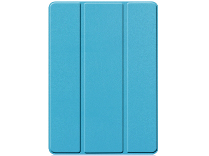 Premium Slim Synthetic Leather Flip Case with Stand for iPad 7th Gen - Sky Blue