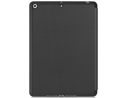 Premium Slim Synthetic Leather Flip Case with Stand for iPad 7/8th Gen - Black