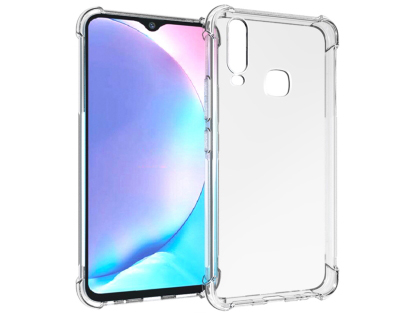 Gel Case with Bumper Edges for vivo Y17 - Clear Soft Cover