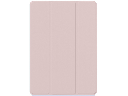 Premium Slim Synthetic Leather Flip Case with Stand for iPad 7/8th Gen - Rose Gold