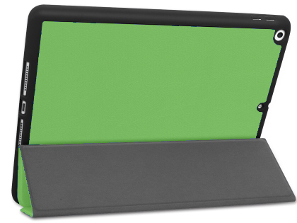 Premium Slim Synthetic Leather Flip Case with Stand for iPad 7th Gen - Green Leather Flip Case