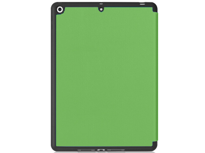 Premium Slim Synthetic Leather Flip Case with Stand for iPad 7th Gen - Green