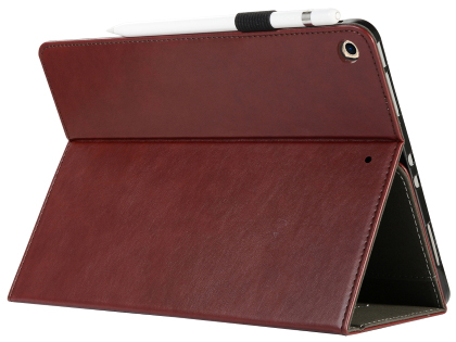 Synthetic Leather Flip Case with Stand for iPad 7th Gen - Rosewood Leather Flip Case